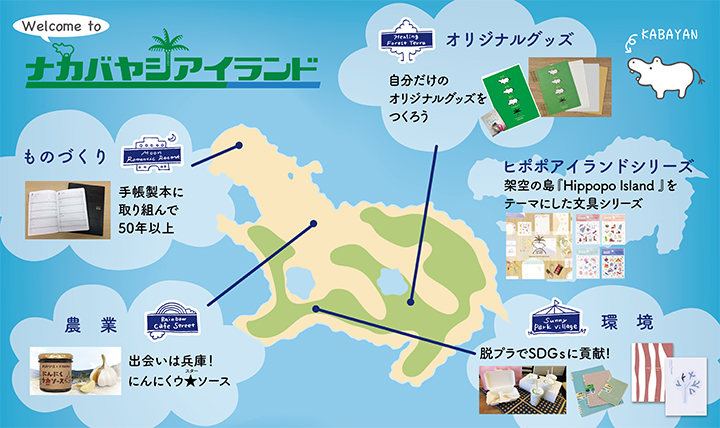 「島」がテーマのナカバヤシポップアップストア