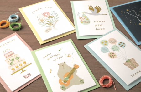 ハンドメイド刺繍カード