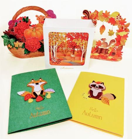 秋のポップアップカード