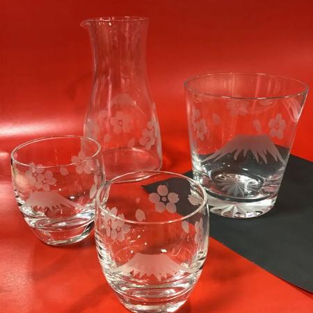 江戸切子 冷酒器揃とオールドグラス