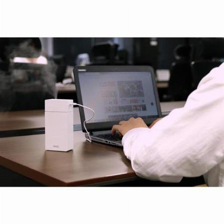 充電式ポータブル加湿器 short PR-HF027-WH ホワイト 140ml プリズメイト