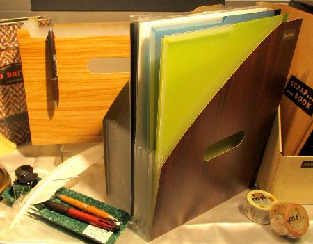 木目調の収納ファイル&収納スタンドが新発売!