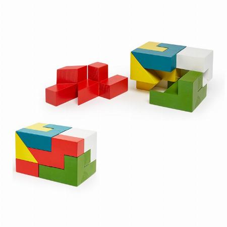 カラフルな木製パズル